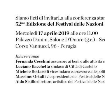 17/04/2019: Conferenza stampa presentazione 52° Festival delle Nazioni